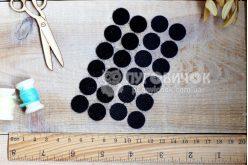 Липучка кругла 15мм чорна (1+1)