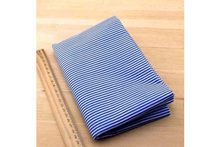Ткань голубая ассорти 50*50см полоска белая