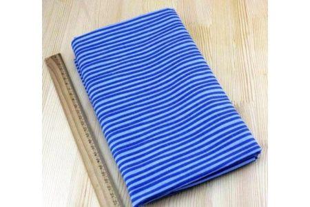 Ткань голубая ассорти 50*50см полоска синяя