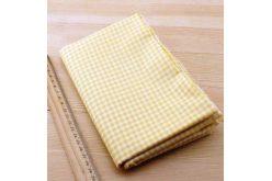 Ткань жёлтая ассорти 50*50см клетка белая