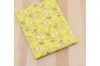 Тканина жовта асорті 50*50см парасольки