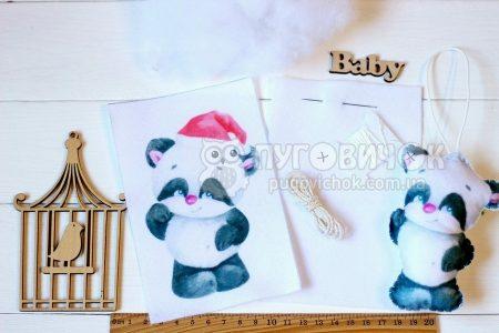 """Набір для творчості """"Добра іграшка """"Панда""""новорічна"""