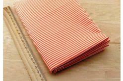 Тканина жовта асорті 50*50см смужка біла (на оранжевому)