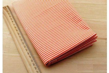 Ткань жёлтая ассорти 50*50см полоска белая (на оранжевом)