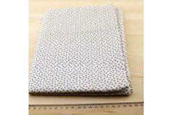 Ткань кофейнаяассорти 50*50см цветы мелкие коричневые (на белом)