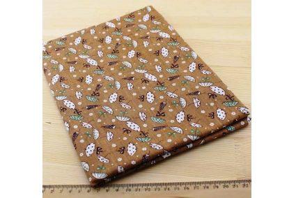 Ткань кофейнаяассорти 50*50см зонтики
