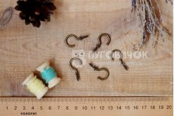 Крючок-саморез металлический бронзовый