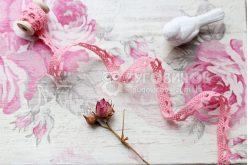 Мереживо бавовняне світло-рожеве 10мм