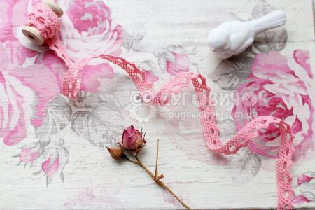 Кружево хлопковое светло-розовое 10мм