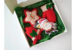 """Набір іграшок з фетру """"Санта Клаус, Дзвіночок, Рукавичка і"""