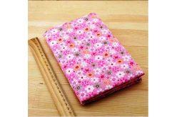 Ткань розовая ассорти 50*50см цветы крупные разные