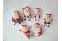 """Набор игрушек из фетра """"Санта Клаусы"""""""