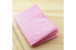 Тканина рожева асорті 50*50см квіти малі малинові (на рожевому)