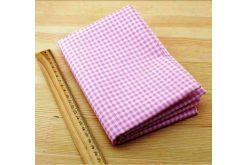 Тканина рожева асорті 50*50см клітинка біла
