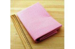 Тканина рожева асорті 50*50см смужка біла