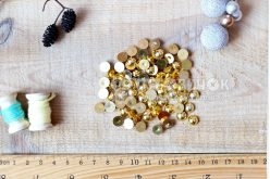 Полубусины гальваника 08 мм темное золото (уп 10 грамм)