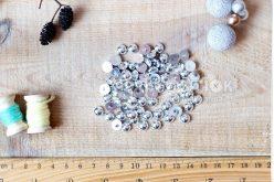 Полубусины гальваника 08 мм серебро (уп 10 грамм)
