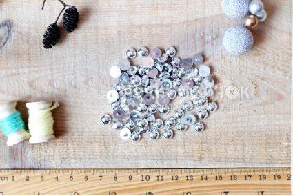 Напівнамистини гальваніка 08мм срібло (уп 10 грам)