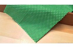 Ткань салатовая ассорти 50*50см горох мелкий белый (на зеленом)