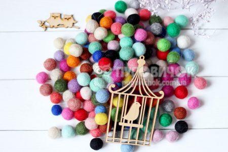 Кульки з вовни 1,5см в асортименті
