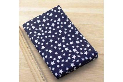 Ткань синяя ассорти 50*50см звезды белые