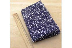 Ткань синяя ассорти 50*50см цветы мелкие белые