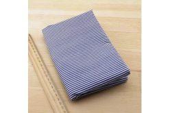 Ткань синяя ассорти 50*50см полоски белые