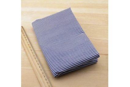 Тканина синя асорті 50*50см смужки білі