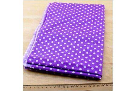 Ткань фиолетовая ассорти 50*50см горох большой белый