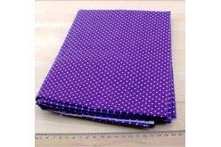 Ткань фиолетовая ассорти 50*50см горох мелкий белый