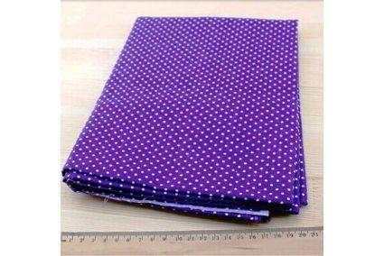 Тканина фіолетова асорті 50*50см горох малий білий