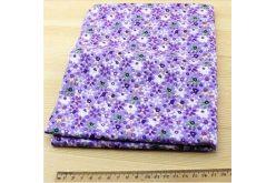 Ткань фиолетовая ассорти 50*50см цветы крупные разные