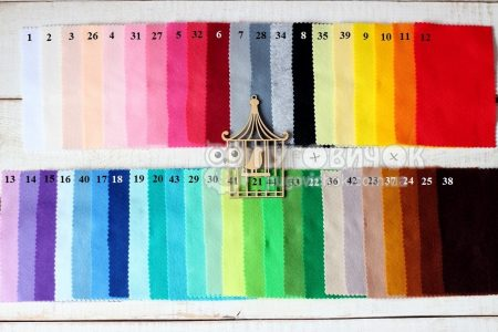 Фетр корейский мягкий 1,2 мм разные размеры