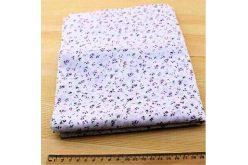 Ткань фиолетовая ассорти 50*50см цветы мелкие разные редкие (на белом)