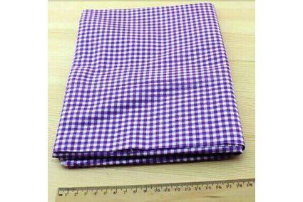 Ткань фиолетовая ассорти 50*50см клетка белая