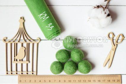 Кульки з вовни 2,5см в асортименті