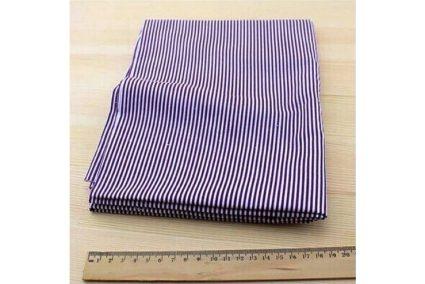 Ткань фиолетовая ассорти 50*50см полоска белая