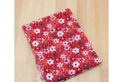 Ткань красная ассорти 50*50см цветы крупные разные