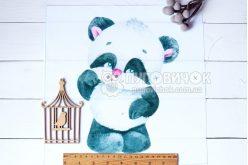 """Габардин с рисунком 35*35см панелька """"Добрая панда"""""""