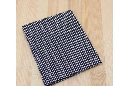 Ткань черная ассорти 50*50см сердечка белые
