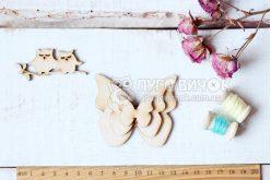"""Шаблон дерев'яний """"Метелики"""" набір 3шт"""
