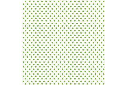 """Фетр м`який 25*25см з візерунком """"горох зелений на білому"""""""