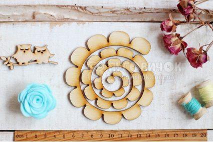 """Шаблон дерев'яний """"Заготовка для квітки"""" великі пелюстки"""