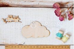 """Шаблон деревянный """"Облако"""" 9 см"""