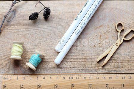 Маркер для тканини (змивається) білий