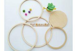 Набор колец деревянных для мобиля (4 шт)+подарок