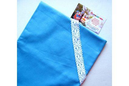 Ткань однотонная темно-голубая