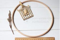 Кільце дерев'яне для мобілю 22 см Nurge