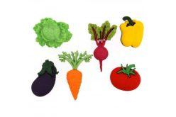 """Гудзики Dress it up """"Свіжі овочі """" (6шт.) 9381"""
