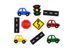 """Гудзики Dressitup """"Дорожні знаки і автомобілі"""" (10шт.) 9355"""
